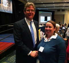 LEND trainee Jennifer Cullen and Senator Ted Kennedy, Jr. at the AUCD Conference in December, 2012