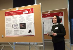 LEND Trainee presenting poster at Ohio MCH Programs Poster Session on healthcare transition for adolescents and adults