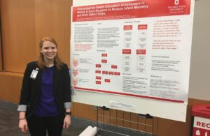 LEND Genetic Counselling Trainee with research poster